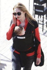 ... Je porte mon bebe Écharpe de portage extensible Basic black-Image 5 ... 77d5e166f17