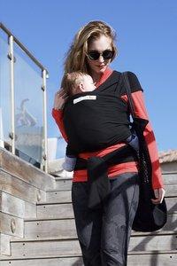 ... Je porte mon bebe Écharpe de portage extensible Basic black-Image 6 ... f0c5d09d1a9