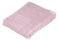 Koeka Couverture pour berceau ou parc Porto tricot tea rose/baby pink coton