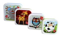 Label-label Snackdoosje Friends vierkant  - 4 stuks