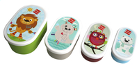 Label-label Boîte à snacks Friends ovales - 4 pièces