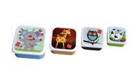 Label-label Boîte à snacks Friends carrées - 4 pièces-Vue du haut