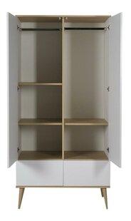 Quax Armoire 2 portes et 2 tiroirs Flow White & Oak-Détail de l'article