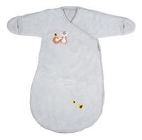 Dreambee Sac de couchage d'hiver Ayko fleece softy gris clair 60 cm