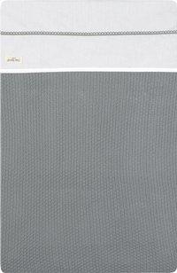 Jollein Drap pour berceau ou parc Crochet coton small grey-Détail de l'article