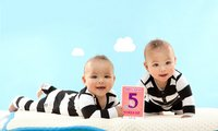 Milestone Baby Cards Twins-Afbeelding 2