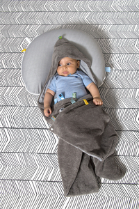 Snoozebaby Couverture enveloppante storm grey-Image 1