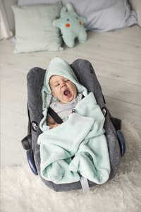 Snoozebaby Wikkelcape fresh mint-Afbeelding 1