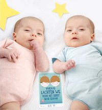 Milestone Baby Cards Twins-Afbeelding 1