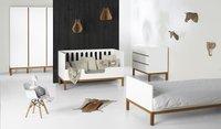 Quax Chambre de bébé 3 pièces avec armoire 2 portes Indigo blanc-Image 1