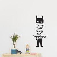 Chispum Muursticker Today I will be my own superhero-commercieel beeld