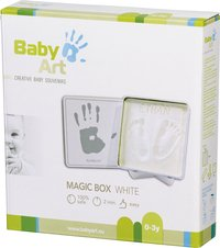 Baby Art Hand- of voetafdruk Magic Box wit-Vooraanzicht