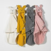 Jollein Wikkelcape Bunny off white-Afbeelding 2