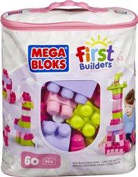 Mega Bloks Set de jeu First Builders Sac de blocs rose-Avant