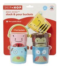 Skip*Hop Badspeelgoed Zoo Stack & Pour Buckets  - 5 stuks-Vooraanzicht