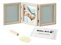 Baby Art 3-delig fotokader met gipsafdruk Double print whitewash-Artikeldetail
