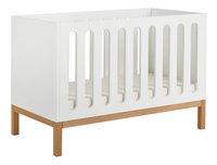 Quax Chambre de bébé 3 pièces avec armoire 2 portes Indigo blanc-Détail de l'article