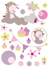 Nattou Sticker mural Manon & Alizée