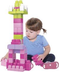 Mega Bloks Set de jeu First Builders Sac de blocs rose-commercieel beeld