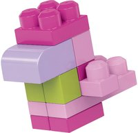 Mega Bloks Set de jeu First Builders Sac de blocs rose-Image 2