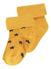Noppies Sokken honey yellow-Vooraanzicht