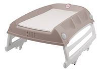 OK Baby Table à langer Flat gris/blanc