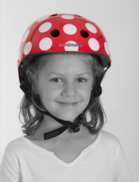 Kiddimoto Casque-vélo dotty rouge-Image 1