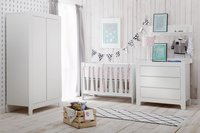 Quax Chambre de bébé 3 pièces avec armoire 3 portes Sunny blanc-Image 1