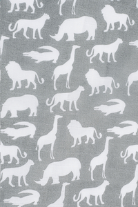 Jollein Tetradoek Safari stone grey  - 2 stuks-Artikeldetail