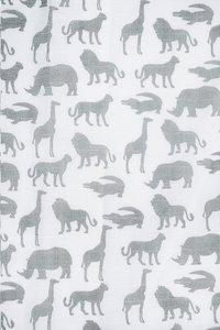 Jollein Essuie tetra Safari stone grey - 2 pièces-Détail de l'article