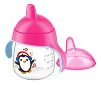 Philips AVENT Gobelet d'apprentissage pingouin 260 ml rose-Avant