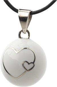 Babylonia Grelot de grossesse Bola avec double cœur blanc