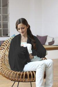 Lässig Borstvoedingsdoek/sjaal zwart-Afbeelding 3