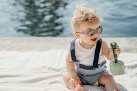 Ki ET LA Zonnebril Ours'on blauw/zilvergrijs van 1 jaar tot 2 jaar-Afbeelding 2