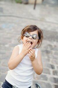 Ki ET LA Zonnebril Ours'on blauw/zilvergrijs van 1 jaar tot 2 jaar-Afbeelding 4
