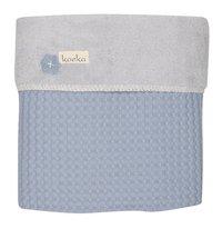 Koeka Couverture d'hiver pour berceau ou parc Oslo soft blue/silver grey teddy/coton