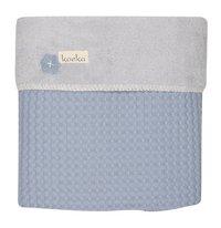 Koeka Winterdeken voor bed Oslo soft blue/silver grey