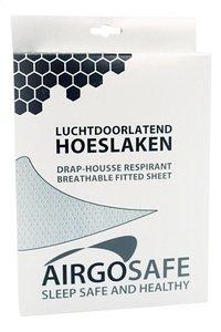 Airgosafe Hoeslaken voor bed wit polyester B 60 x L 120 cm-Vooraanzicht