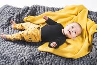 Jollein Deken voor bed Basic Knit ochre katoen-Afbeelding 1