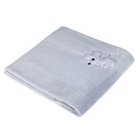 Pericles Couverture pour lit Mouse Grey teddy-Avant