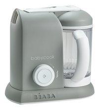 Béaba Cuiseur vapeur-mixeur Babycook Solo gris/blanc-Côté gauche