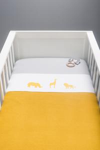 Jollein Deken voor bed Basic Knit ochre katoen-Afbeelding 2