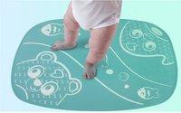 Playgro Tapis de bain antidérapant caoutchouc turquoise-Image 1