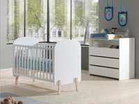 Vipack Lit de bébé Kiddy blanc L 120 x Lg 60 cm-Image 1