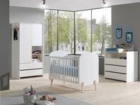 Vipack Lit de bébé Kiddy blanc L 120 x Lg 60 cm-Image 2