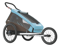 Croozer Remorque de vélo Kid Plus for 1 Click & Crooze sky blue/brown