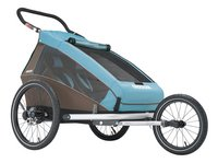 Croozer Fietskar Kid Plus for 2 Click & Crooze sky blue/brown