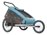 Croozer Remorque de vélo Kid Plus for 2 Click & Crooze sky blue/brown