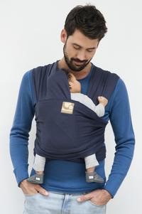 Babylonia Rekbare draagdoek Tricot-Slen Organic biokatoen Blue Jeans-commercieel beeld