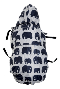Bundle Bean Cape pour porte-bébé grey elephants